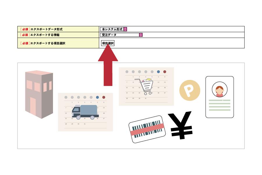 受注データのエクスポートは詳細検索後に指定可能