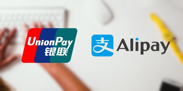 銀聯国際カード(UnionPay)、支付宝(アリペイ)決済にも対応
