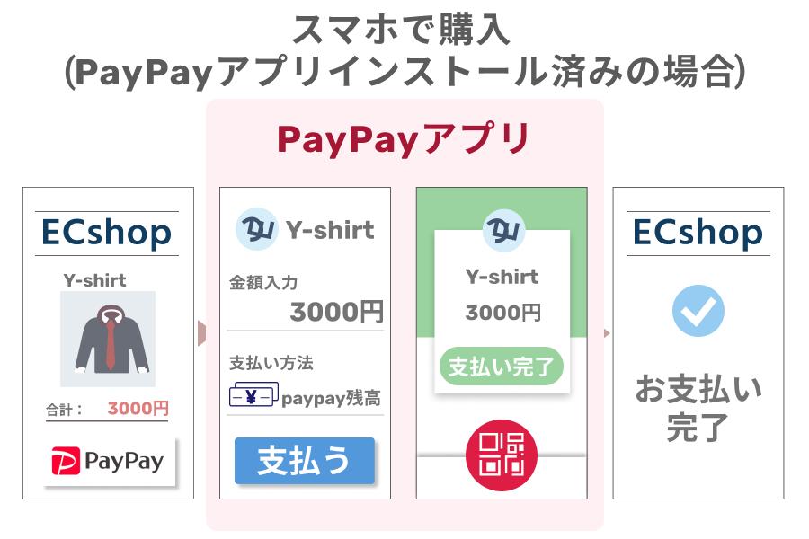 PayPay(ペイペイ)アプリがインストールしたスマホでの購入の場合