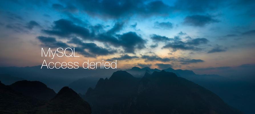 MySQLインストール時に遭遇する「アクセス拒否エラー(Access denied for user 'root'@'localhost')」の対処