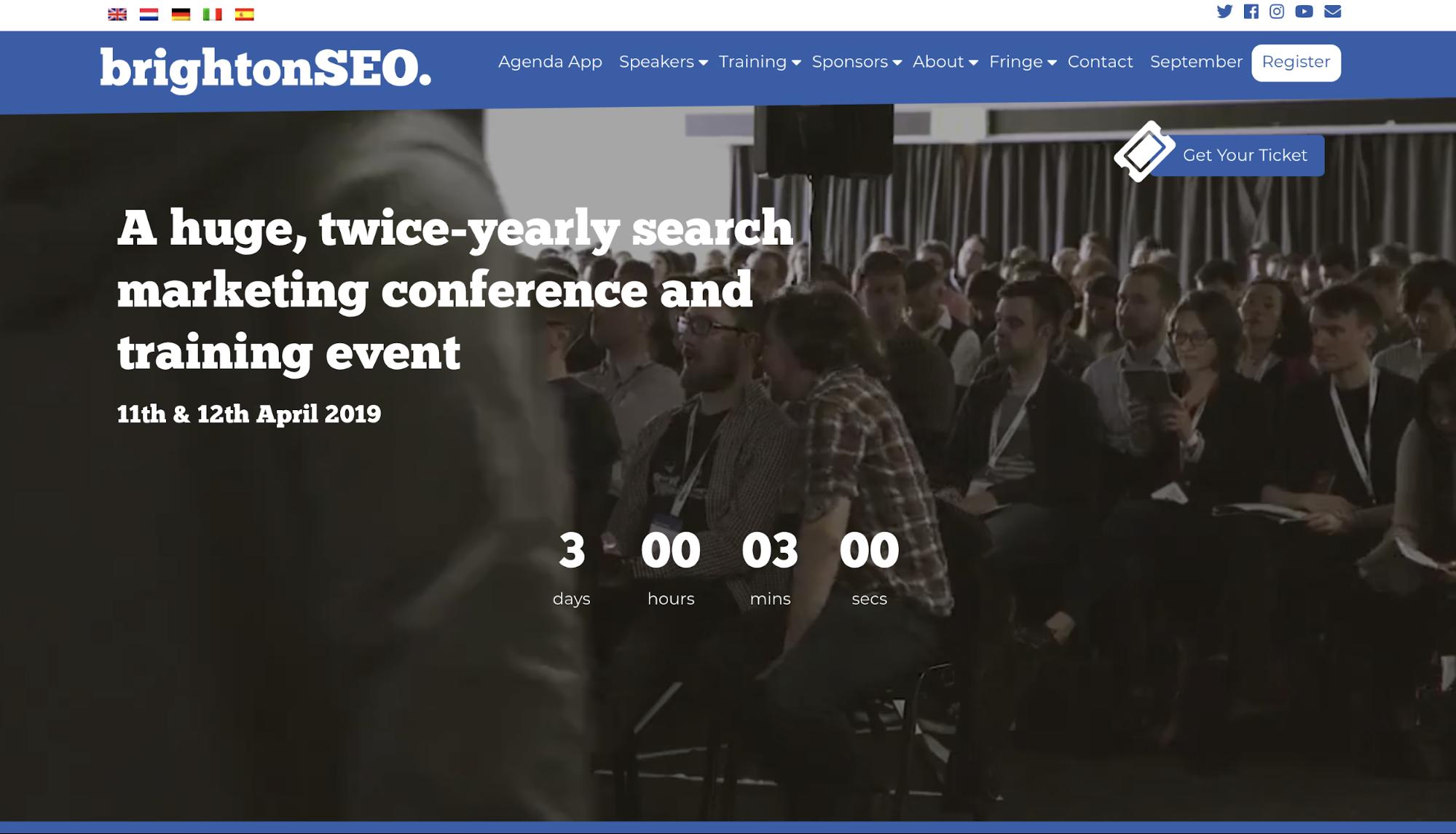 ヨーロッパ最大のSEOカンファレンス、BrightonSEOに参加してきます。
