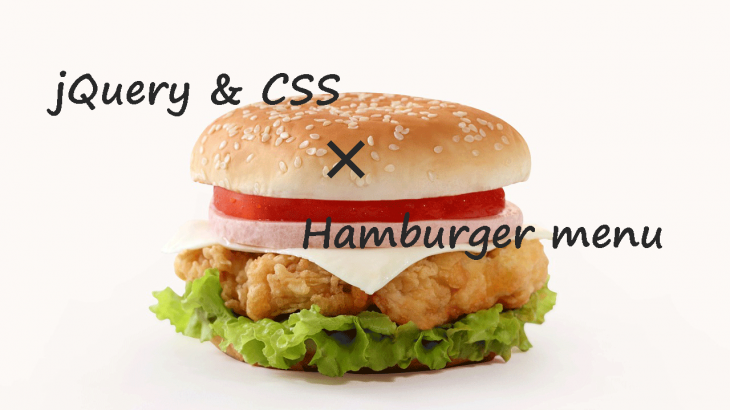 jQuery and CSS and Hamburger menu